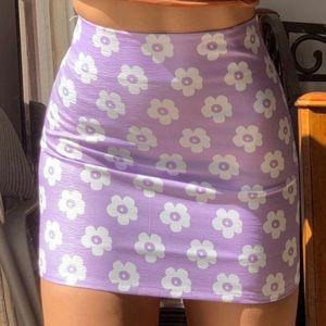 Purple & White Flower Skirt